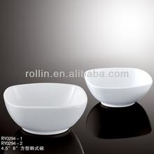 Japão estilo fine chinese estilo coreano praça tigela de porcelana