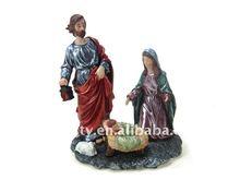 Polyresin statue Christmas gift
