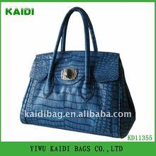 KD11355 2012 Hot sale crocodile pu lady handbag