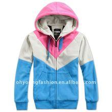 new style yarn dyed with hood long sleeve casual warm winter full zip hoodies