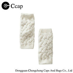 Wholesale white soild knitted fashion gaiter