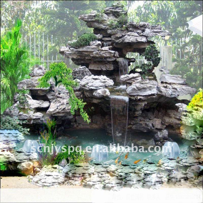 Modelos de cascadas para jardines imagui for Cascadas de piedra para jardin