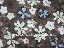 maple leaf&petal mix design beautiful cotton scarf