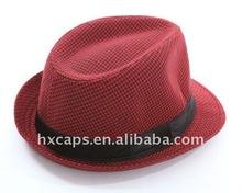 new fashion man women lady nylon fedora cow boy cap hat