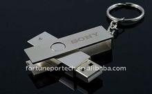 usb flash drive metal keychain/usb metal 64gb with free sample