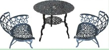 outdoor cast aluminum garden chair and tables