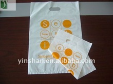 2014 New year HDPE Die cut Handle Plastic Shopping Bag with high quality