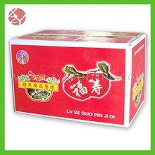 Full color print double wall corrugated apple carton box