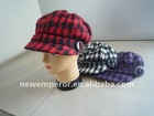 lady's fashion good looking checked winter cap