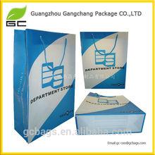 logo print string handle blue carton image PP gift bag