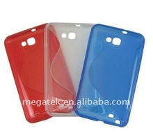 Mobile phone case phone accessories S shape TPU Gel case cover for Samsung Galaxy Note i9220