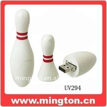 Custom Logo Free PVC Bowling Shape USB Pen