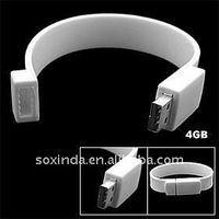 Promotional product silicone usb wrist band for Christmas day