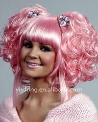 Cosplay Pink Geass Anya Halloween Costume Wig