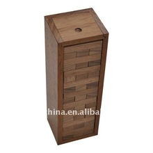 Puzzle Tower Wooden Building Blocks Wooden Tower Blocks Wood Toys Jenga Box
