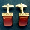 Diamond gold fashion metal cuff links