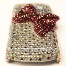 Bling bowknot crystal cover for blackberry 9900
