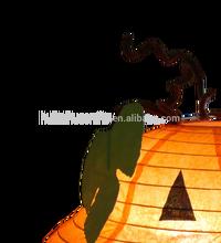 gold supplier HHD-T1019 Lovely pumpkin paper lantern table lamp