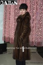 long&elegant mink fur coat for russian