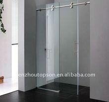 Rectangular Frameless Tempered Sliding Glass Shower Door
