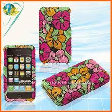 For Apple iphone 3G 3GS flower full diamond bling case