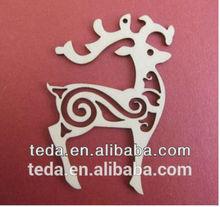 China laser cut wood christmas decorations