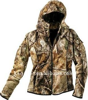 winderproof and winderprood ,breathable , women camo hunting jacket