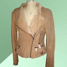 2012 Ladies' fashion double face Lamb Shearling Garment,double face shearing jacket