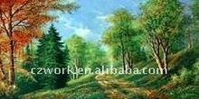 New design modern western embroidery art painting / tapestry