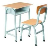 Metal frame wood panel students use school desk