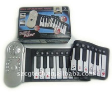 keyboard instrument / Promotional piano keyboard/ Toy roll up Piano