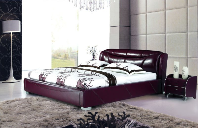new design leather bed, View stylish soft bed, LY Product Details ...