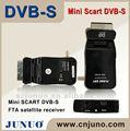 Fta dvb-s digital tv caja convertidora de mini scart
