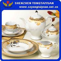101pcs ceramic white dinnerware hotel for sale in turkey