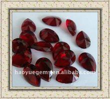 pear cut ruby #5 zirconia ruby gems