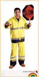 police PU reflective safety raincoat