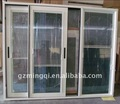 Alunminium deslizante porta de vidro com persianas