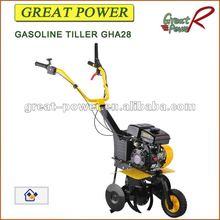 Gasolina timón GHA28 grada rotativa grada cultivador rotatorio arado para motocultor