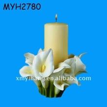 ceramic lily wedding candle holder wedding door gift