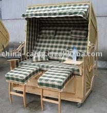 Wicker Roofed Beach Chair & beach basket & strandkorb & cabana