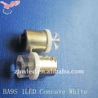 Car LED bulb Concave Head BA9S Concave 1LED Gauge Pilot Door Lamp Edge Lights