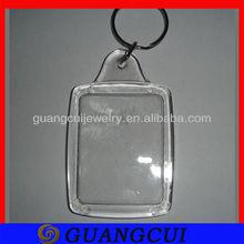 fashion clear acrylic photo frame keychain logo key ring keychain credit card holder chain types of keyrings