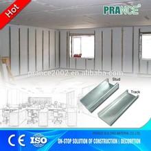 Galvanized drywall metal studs and tracks