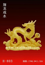 2012 new year gift golden dragon ornament