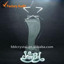 Fashion k9 crystal star trophy for business celebration