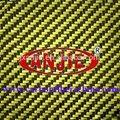 3k fibra de carbono kevlar hybird tecido amarelo, de carbono e aramida hybird tecido