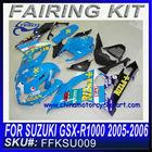 GSX fairing GSXR1000 fairing GSX-R1000 05-06 BLUE RIZLA FFKSU009