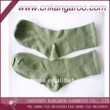 2012 cheap Olive green Military cotton long Socks