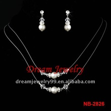 cheap hot pearl delicate necklace set