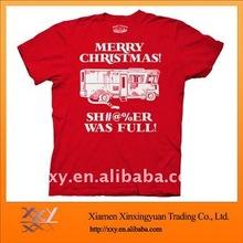 2014 Mens Christmas TShirt Custom Fabric Wholesale Manufacturer
